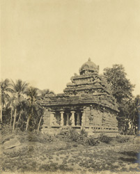 South-west view, Matangesvarasvami Temple, Great Conjeeveram, Chingleput District